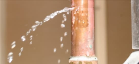 Frozen pipe burst creating a small leaking break - Emergency Plumbing
